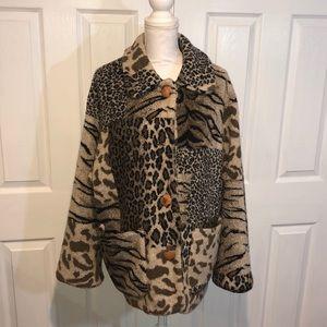 Izzi cheetah fur coat